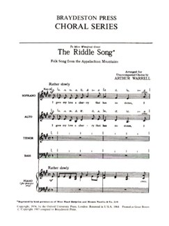 The Riddle Song Books | SATB