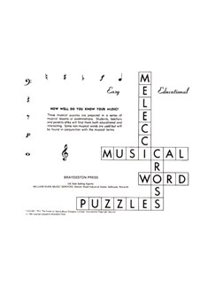 Musical Crossword Puzzles Books |