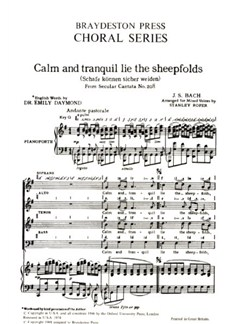 J.S. Bach: Calm And Tranquil Lie The Sheepfolds Books | SATB, Piano Accompaniment