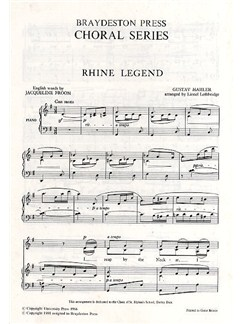 Gustav Mahler: Rhine Legend (2-Part Upper Voices) Books | 2-Part Choir, Piano Accompaniment