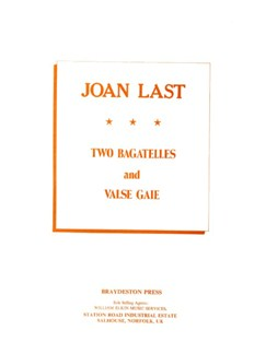 Joan Last: Two Bagatelles And Valse Gaie Books | Piano