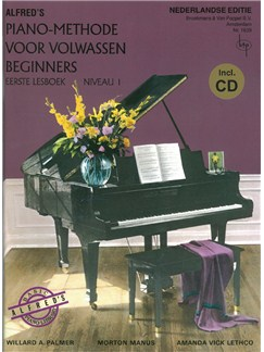 Alfred's Piano-Methode Voor Volwassen Beginners: Eerste Lesboek - Niveau 1 (Book/CD) (Dutch Language) Books and CDs | Piano