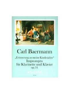 Carl Baermann: Impromptu Op. 34 Books | Clarinet, Piano Accompaniment