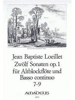 Jean-Baptiste Loeillet: 12 Sonatas Op. 1 For Treble Recorder And Basso Continuo (Vol 3, No 7-9) Books | Continuo, Alto (Treble) Recorder