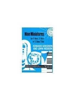 Nine Miniatures For E Flat Horn Books | Tenor Horn