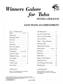 Winners Galore For Tuba (Easy Piano Accompaniment) Books | Tuba, Piano Accompaniment