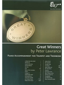 Peter Lawrance: Great Winners For Trumpet And Trombone (Piano Accompaniments) Books | Piano Accompaniment