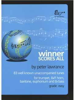 Peter Lawrence: Winner Scores All - Trumpet (Book/CD) Books and CDs | Trumpet