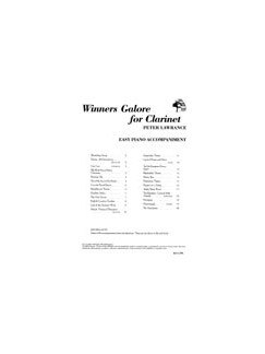 Peter Lawrance: Winners Galore For Clarinet (Piano Accompaniment Only) Books | Piano Accompaniment