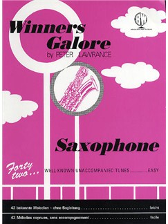 Peter Lawrance: Winners Galore (Saxophone) Libro | Saxofón