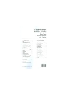 Arr. Peter Lawrance: Great Winners For Clarinet - Piano Accompaniment Book Books | Piano
