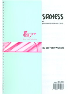 Jeffery Wilson: Saxess For Alto Saxophone Books | Alto Saxophone, Piano Accompaniment