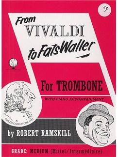 From Vivaldi To Fats Waller (Trombone Bass Clef) Books | Trombone, Piano Accompaniment