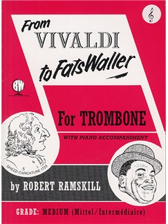 From Vivaldi To Fats Waller (Trombone Treble Clef) Books | Trombone, Piano Accompaniment