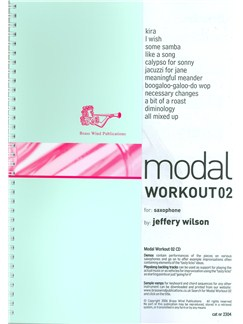 Jeffery Wilson: Modal Workout 02 (Book/CD) Books and CDs | Saxophone
