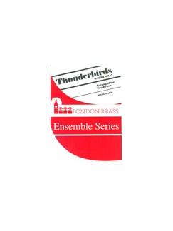 Thunderbirds (Brass Tentet) Books | Trumpet, French Horn, Trombone, Tuba, Percussion