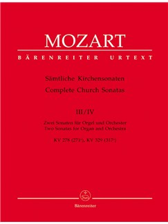 W. A. Mozart: Church Sonatas Vol 3/4 K.278, 329 (Wind Set) Books | Wind Instruments