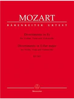 W.A. Mozart: Divertimento In E Flat K.563 (Barenreiter Urtext Edition) Books | Violin, Viola, Cello