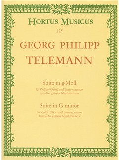 G.P. Telemann: Suite In G Minor TWV 41 Libro | Oboe, Acompañamiento de Piano