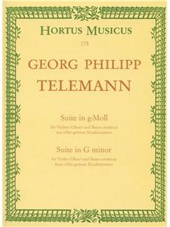 G.P. Telemann: Suite In G Minor TWV 41 Books | Oboe, Piano Accompaniment
