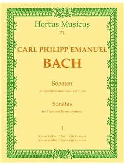 C.P.E Bach: Sonatas For Flute And Basso Continuo - Volume 1 Books | Flute, Piano Accompaniment