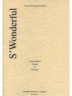 George Gershwin: S'Wonderful (String Quartet) - Score Books | String Quartet