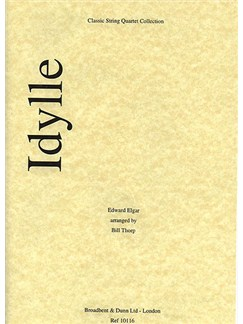 Edward Elgar: Idylle Op.4 No.1 (String Quartet) - Score Books | String Quartet