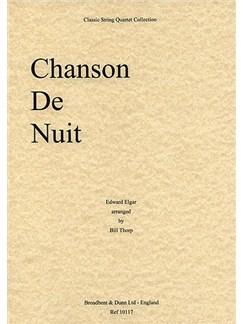 Edward Elgar: Chanson De Nuit (String Quartet) - Score Books | String Quartet