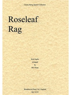 Scott Joplin: Roseleaf Rag (String Quartet) - Score Books | String Quartet
