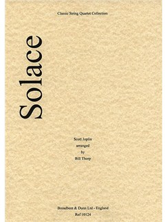Scott Joplin: Solace (String Quartet) - Parts Books | String Quartet