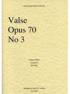 Frederic Chopin: Valse Op.70 No.3 (String Quartet) - Parts Books | String Quartet