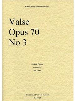 Frederic Chopin: Valse Op.70 No.3 (String Quartet) - Score Books | String Quartet