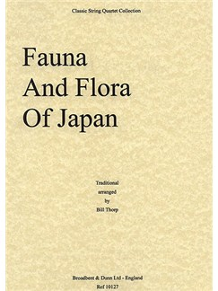 Fauna And Flora Of Japan (String Quartet) - Score Books | String Quartet