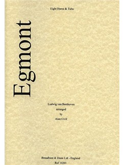Beethoven: Egmont Overture For Eight Horns And Tuba Books | Horn (Octet), Tuba