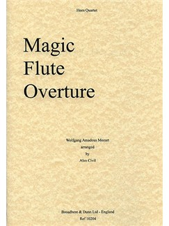 W.A. Mozart: Magic Flute Overture (Horn Quartet) Books | Horn (Quartet)