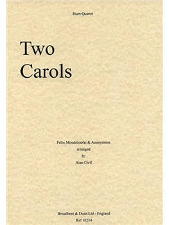 F. Mendelssohn: Anonymous: Two Carols Books | French Horn