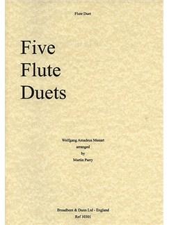 W.A. Mozart: Five Flute Duets Books   Flute (Duet)