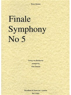 Ludwig Van Beethoven: Finale Symphony No.5 Books | Brass Quintet
