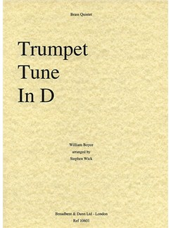 William Boyce: Trumpet Tune In D Books | Brass Quintet