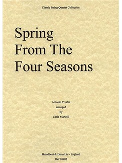 Antonio Vivaldi: Spring (The Four Seasons) - String Quartet Score Books | String Quartet