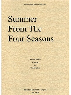 Antonio Vivaldi: Summer (The Four Seasons) - String Quartet Score Books | String Quartet