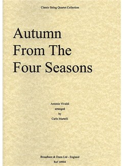 Antonio Vivaldi: Autumn From The Four Seasons (String Quartet) - Score Books | String Quartet