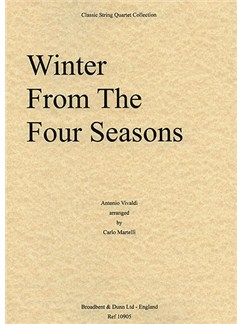 Antonio Vivaldi: Winter (The Four Seasons) - String Quartet Score Books | String Quartet