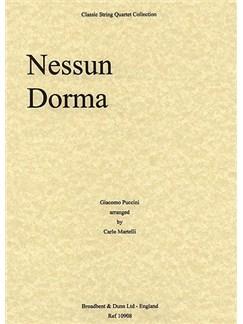 Giacomo Puccini: Nessun Dorma (String Quartet) - Score Books | String Quartet