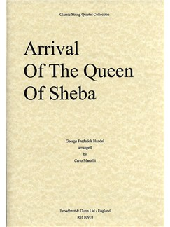 G.F. Handel: Arrival Of The Queen Of Sheba (String Quartet) - Parts Books | String Quartet