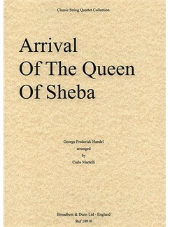G.F. Handel: Arrival Of The Queen Of Sheba (String Quartet) - Score Books | String Quartet