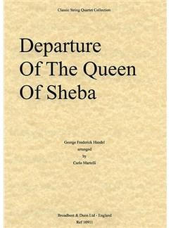 G. F. Handel: Departure Of The Queen Of Sheba (String Quartet) - Parts Books | String Quartet