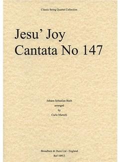 J.S. Bach: Jesu, Joy Of Man's Desiring (String Quartet) - Score Books | String Quartet