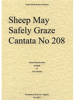 J.S. Bach: Sheep May Safely Graze - Cantata 208 (String Quartet) - Parts Books | String Quartet