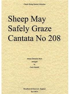 J.S. Bach: Sheep May Safely Graze - Cantata 208 (String Quartet) - Score Books | String Quartet